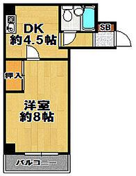 サンクライムハイツ[5階]の間取り