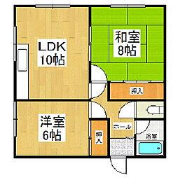 桜木ハイツ1号棟[201号室]の間取り