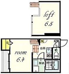 パルク カナヤマ1[2階]の間取り