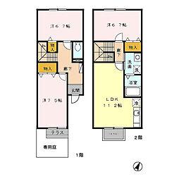 [テラスハウス] 石川県金沢市西都1丁目 の賃貸【/】の間取り