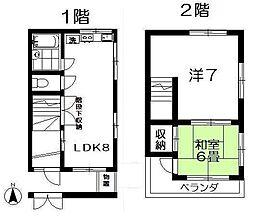 [一戸建] 東京都中野区中野6丁目 の賃貸【/】の間取り