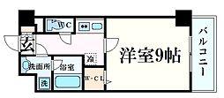 JR東海道・山陽本線 西宮駅 徒歩10分の賃貸マンション 2階1Kの間取り
