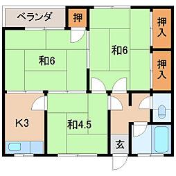 マンション葛城[2階]の間取り