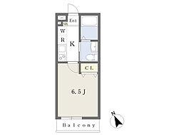 JR中央線 西荻窪駅 徒歩8分の賃貸マンション 1階1Kの間取り