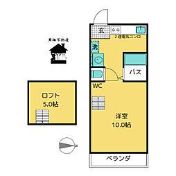 ハウス108車道[4階]の間取り