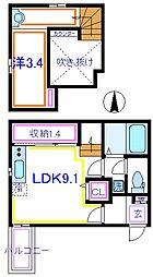 東武伊勢崎線 五反野駅 徒歩5分の賃貸アパート 1階1LDKの間取り