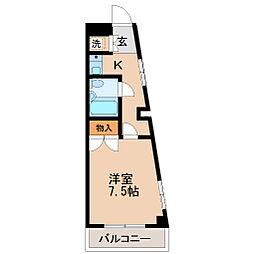 シャングリラ八幡[1階]の間取り