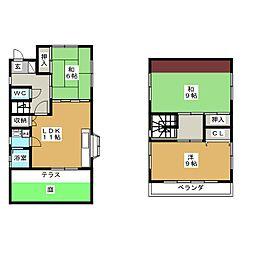 [一戸建] 岡山県岡山市南区万倍 の賃貸【/】の間取り