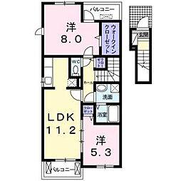 サニーパーク2[2階]の間取り
