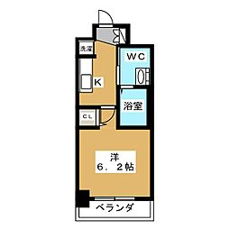 エステムプラザ京都聚楽第雅邸[6階]の間取り