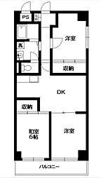 第五千代田マンション[1階]の間取り