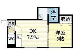 北海道札幌市東区北45条東2丁目の賃貸アパートの間取り