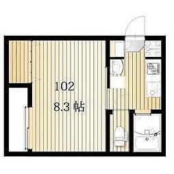 名古屋市営桜通線 桜本町駅 徒歩3分の賃貸アパート 1階1Kの間取り