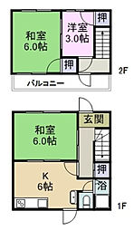[一戸建] 広島県福山市多治米町4丁目 の賃貸【/】の間取り