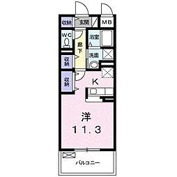 ブライトソレイユタワー[1階]の間取り