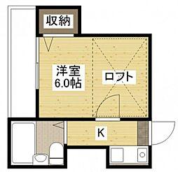ラフィーネ草津[2階]の間取り