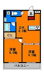 グローバルジョイ弐番館[1階]の間取り