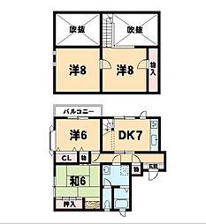 長岡アパート[2階]の間取り
