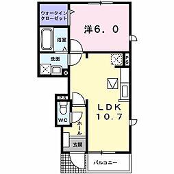 メゾン ソレイユ[0103号室]の間取り