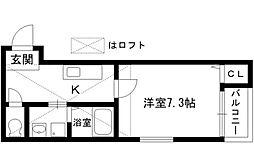 グレシャスコート[1階]の間取り