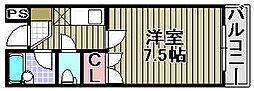 ミヤコピア高松[113号室]の間取り
