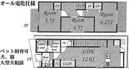 [一戸建] 兵庫県尼崎市下坂部2丁目 の賃貸【/】の間取り