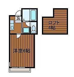 神奈川県相模原市南区上鶴間本町1の賃貸アパートの間取り