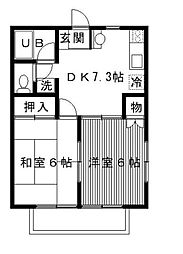 サニーコート宿河原[1階]の間取り
