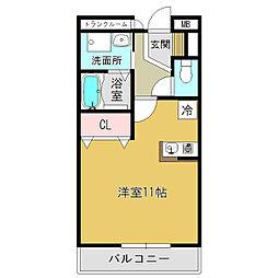 奈良県大和高田市旭北町の賃貸アパートの間取り