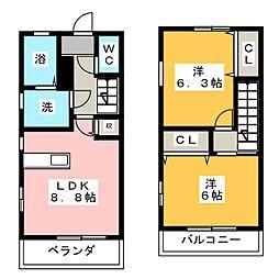 パルコート幡野[1階]の間取り