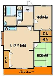 兵庫県神戸市西区森友1丁目の賃貸マンションの間取り