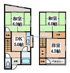 [一戸建] 大阪府東大阪市中石切町4丁目 の賃貸【/】の間取り