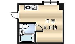 ラパンジール阿倍野[107号室]の間取り