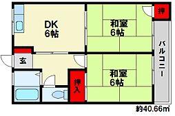 古川ビル[2階]の間取り