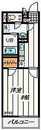 埼玉県さいたま市中央区新中里5丁目の賃貸マンションの間取り