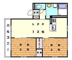 パームツリーB[1階]の間取り