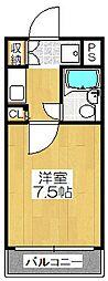 デトム・ワン桃山御陵[4階]の間取り