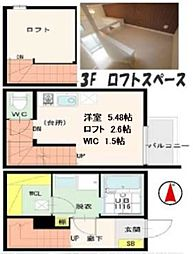 仙台市営南北線 台原駅 徒歩12分の賃貸アパート 1階1Kの間取り