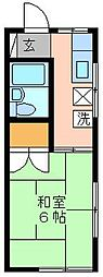 チェルキオ鎌ヶ谷[1F (角) 101号室]の間取り