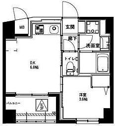 (仮称)平和島・斎藤マンション 1階1DKの間取り