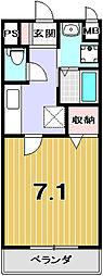 京都府京都市北区平野東柳町の賃貸アパートの間取り