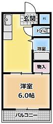 サンクレセント守口[4階]の間取り
