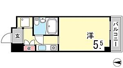カサベラ岡本[5階]の間取り