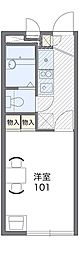 JR阪和線 北信太駅 徒歩12分の賃貸アパート 1階1Kの間取り