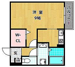 大阪府枚方市村野本町の賃貸アパートの間取り