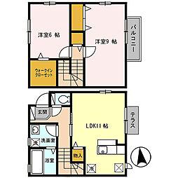 D-room 下中(ディールームシモナカ)[2階]の間取り
