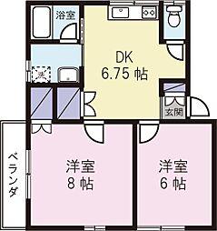 室伏マンション[302号室]の間取り