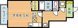 福岡県北九州市八幡西区青山1丁目の賃貸アパートの間取り