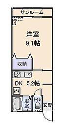 シティプラザ[1-D号室]の間取り
