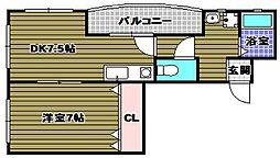 GREEN SQUARE[2階]の間取り